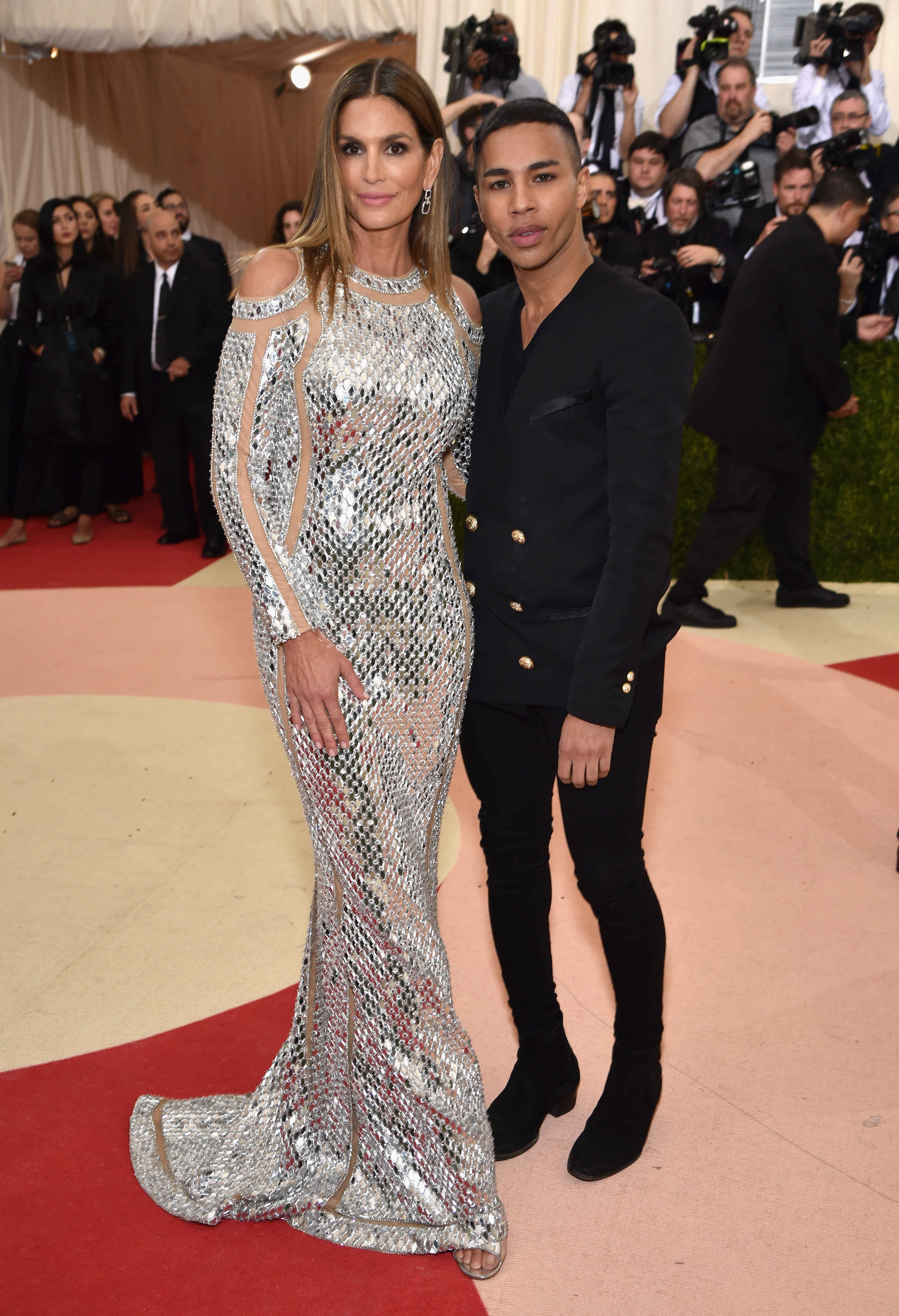 Cindy Crawford in Bailmain with Olivier Rousteing
